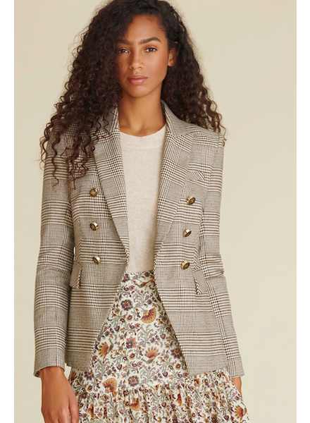 VERONICA BEARD MILLER DICKEY JACKET WITH ELBOW PATCH