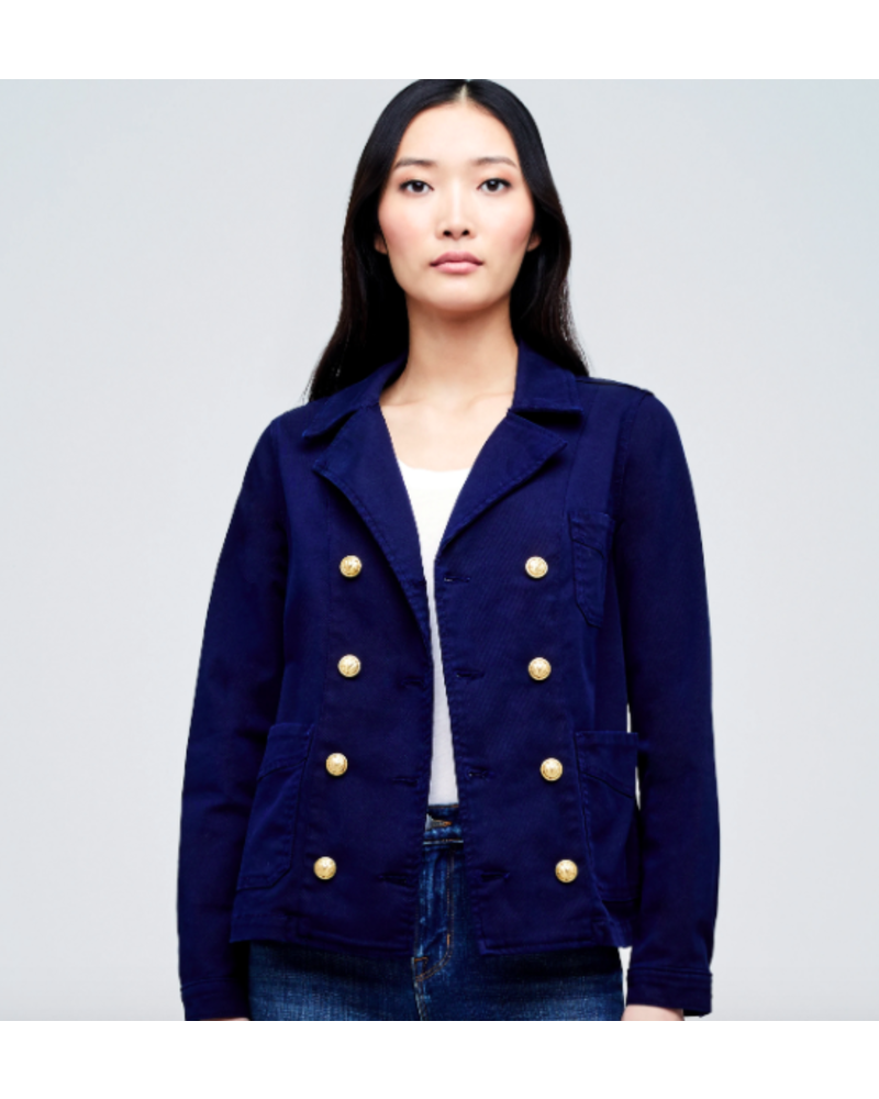 L'Agence L'AGENCE ALLISON DOUBLE BREASTED JACKET NAVY SIZE S