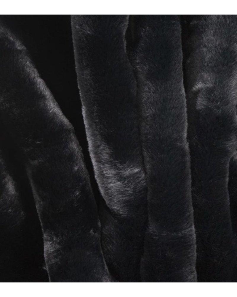PRETTY RUGGED GEAR PRG BLACK FAUX FUR LAP BLANKET