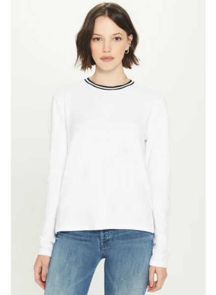 GOLDIE LONG SLEEVE FINE TERRY RINGER