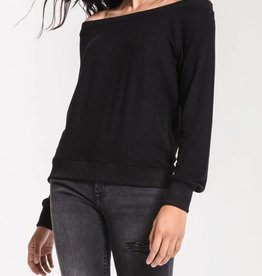 Z SUPPLY SHOP The Marled Off Shoulder Pullover