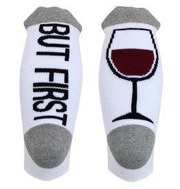 SOCKART But First Wine Socks