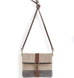 MONA B Finley Crossbody Stone Bag