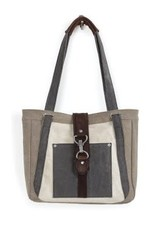 MONA B Nora Shoulder Bag in Stone