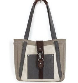MONA B Nora Shoulder Bag in Stone