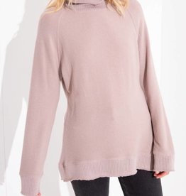 Z SUPPLY SHOP The Soft Spun Mock Neck Pullover