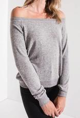 Z SUPPLY SHOP The Marled Off Shoulder Pullover