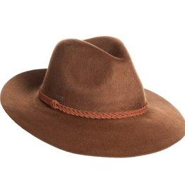 SUN N SAND Crimson Wool Felt Hat with Braided Band