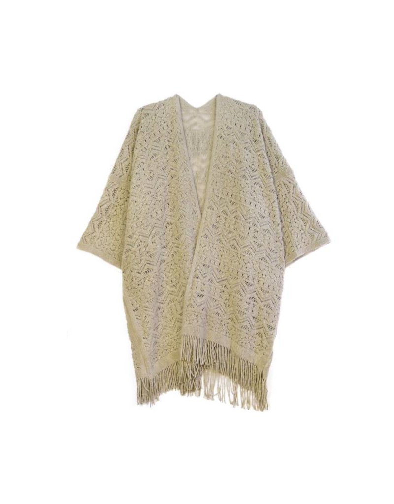 KW FASHION CORP Crochet Sweater Cardigan