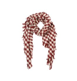 KW FASHION CORP Checkered Blanket Scarf