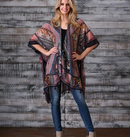 PAPARAZZI The Vino Fringe Kimono