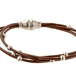 TRADES BY HAIM SHAHAR Strands Leather Bracelet