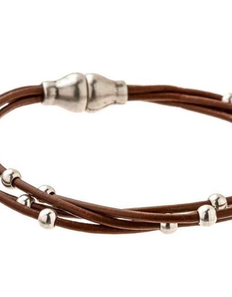 TRADES BY HAIM SHAHAR Strands Leather Bracelet