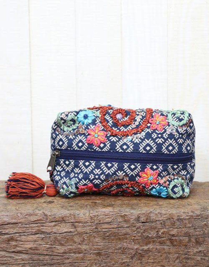 LOVESTITCH Ribbon Embroidered Origami Bag