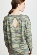 P J  SALVAGE Kind is Cool Camo L/S Top