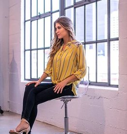 OLIVE HILL Sunflower Tie Front Top
