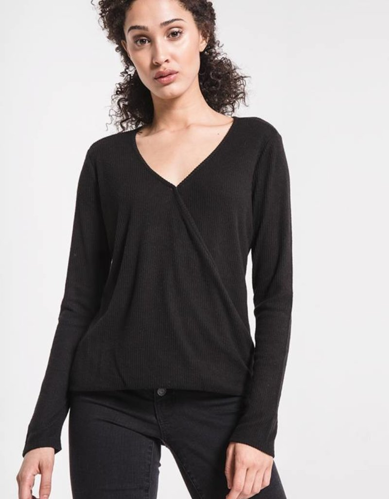 Z SUPPLY SHOP The Brushed Rib Wrap Tee