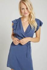 BELLA DAHL Ruffle Sleeve Wrap Dress