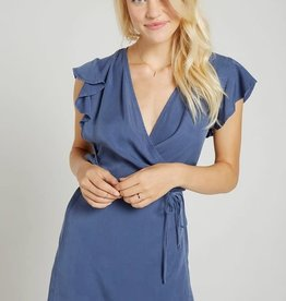 BELLA DAHL Ruffle Sleeve Wrap Dress