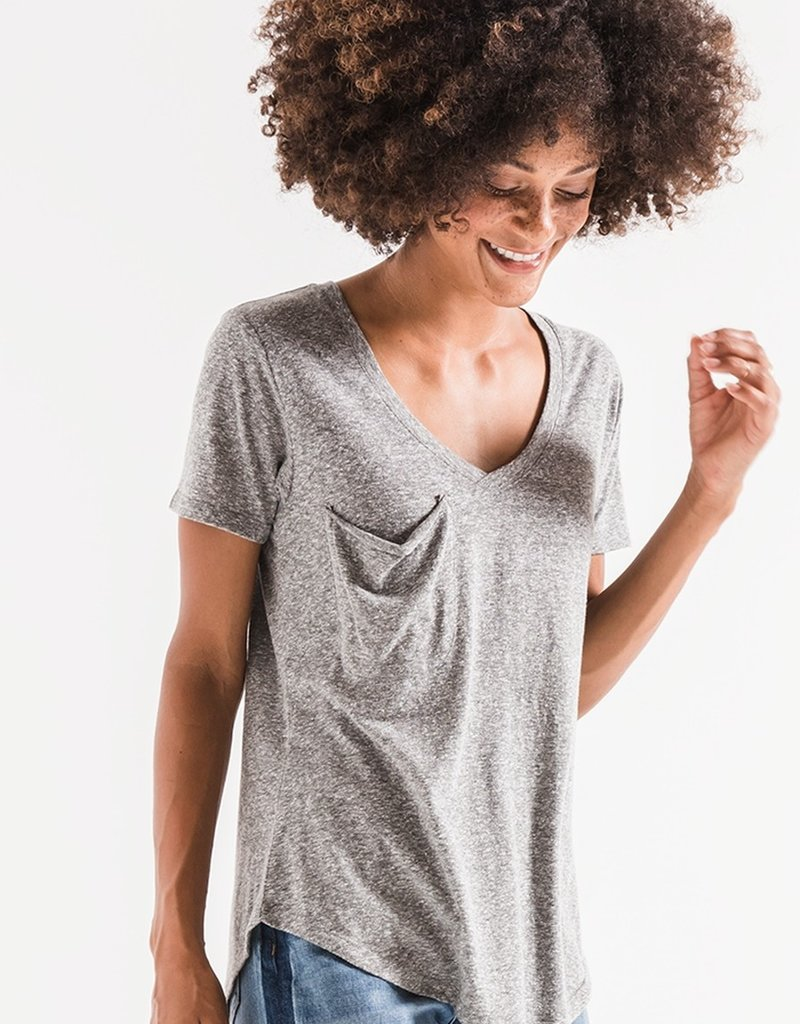 Z SUPPLY SHOP The Triblend Pocket Tee