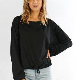 LOVESTITCH Twisted Seam Crew Neck Top