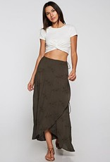 LOVESTITCH Embroidered Wrap Skirt
