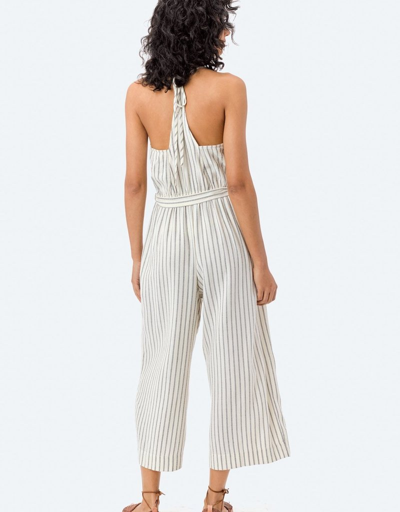 LOVESTITCH Bristol Stripe T Back Jumpsuit