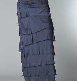 TEMPO PARIS Silk Tiered Maxi Skirt