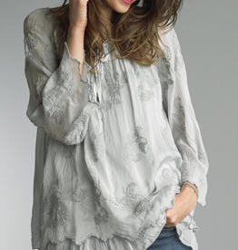 TEMPO PARIS Silver Embroidered Tunic