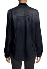 BELLA DAHL Fray Seams Back Shirt