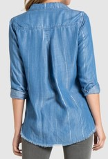 BELLA DAHL Aspen Frayed Button Down