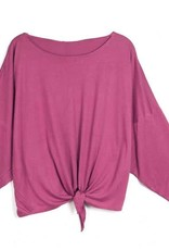 KW FASHION CORP Dolman Sleeve Knotted Top