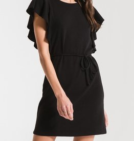 Z SUPPLY SHOP Solid Capri Ruffle Sleeve Dress