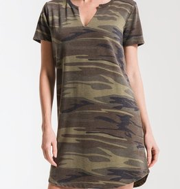 Z SUPPLY SHOP The Camo Split Neck Dress