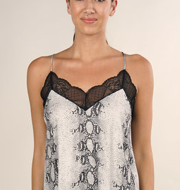 LOVESTITCH Snake Print Cami