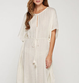 LOVESTITCH Cotton Gauze Kaftan Dress