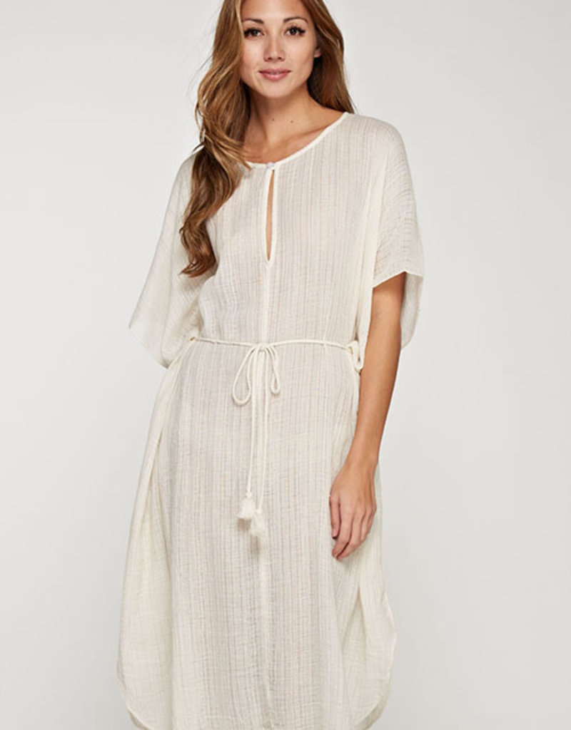 LOVESTITCH Cotton Gauze Kaftan Dress