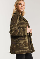 Z SUPPLY SHOP The Camo Sherpa Teddy Bear Coat