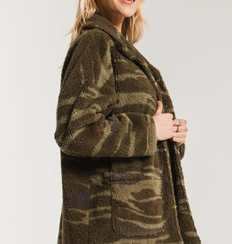 Z SUPPLY SHOP The Camo Sherpa Teddy Bear Coat