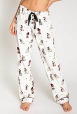 P J  SALVAGE Pug Flannel Pants