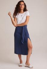 BELLA DAHL Smocked Tie Midi Skirt