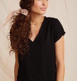 BELLA DAHL SHOP V Neck Short Sleeve Shirt (More Colors Available)