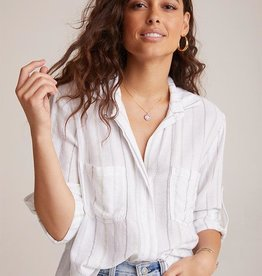BELLA DAHL Split Back Stripe Shirt