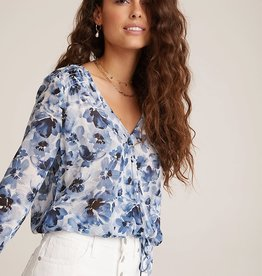 BELLA DAHL SMOCKED WRAP BLOUSE