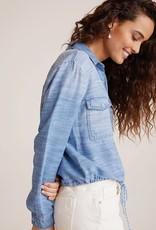 BELLA DAHL Tie Waist Utility Shirt Jacket