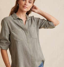 BELLA DAHL SHOP Split Back Button Down(More Colors Available)