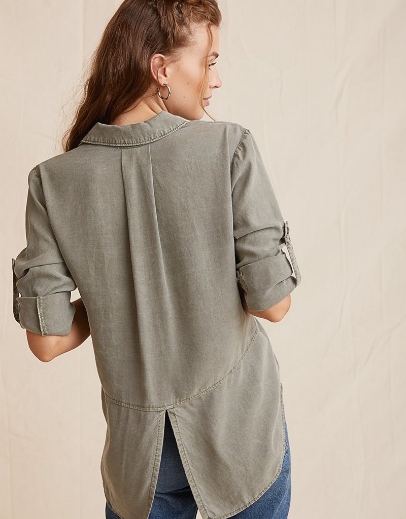 BELLA DAHL SHOP Split Back Button Down