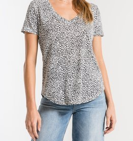 Z SUPPLY SHOP The Mini Leopard V Neck Tee(More Colors Available)