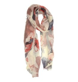 JOY SUSAN ABSTRACT FLORAL SCARF