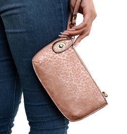 JOY SUSAN Tonal Leopard Crossbody Wristlet(More Colors Available)